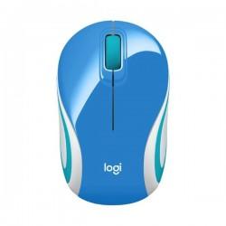 Mouse Logitech M187 Wireless Mini Optico Azul