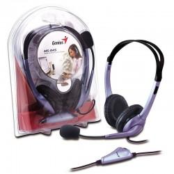 Genius HS-04S Audífonos con Micrófono, Alámbrico